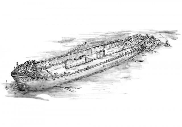 The Hattie Wells today - drawing by Robert Doornbos