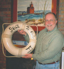 Craig Rich with the second SeaMar III life ring