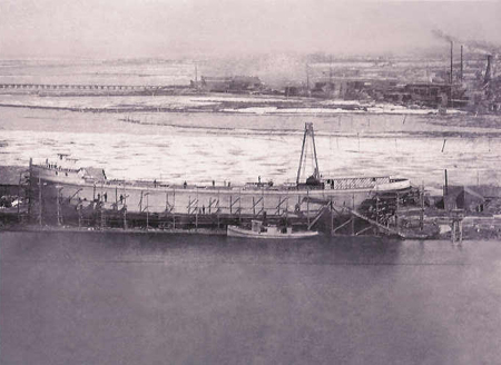 The Akeley under Construction at Grand Haven