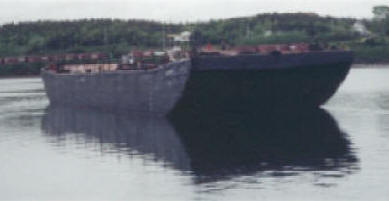 A deck barge