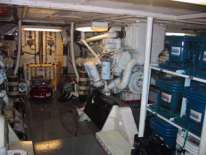 Pizzazz engine room