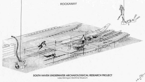 Drawing of the Rockaway wreck