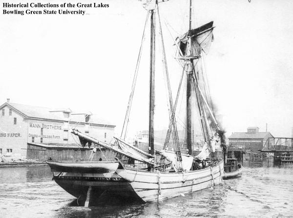 A scow schooner similar to the Rockaway