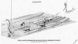 Drawing of the Rockaway wreck